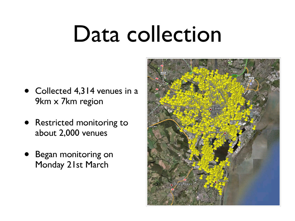 Data collection • Collected 4,314 venues in a 9...
