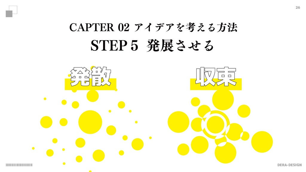 "DERA-DESIGN 26 発散 収束 $""15&3ΞΠσΞΛߟ͑Δํ๏ 45&1̑..."