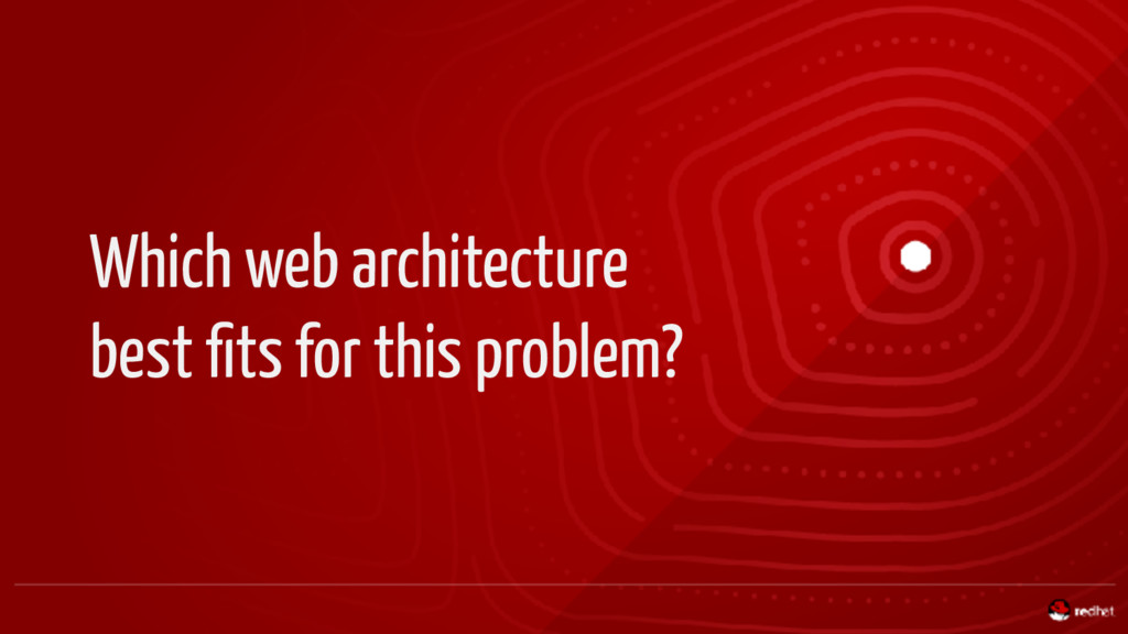 Which web architecture best fits for this proble...