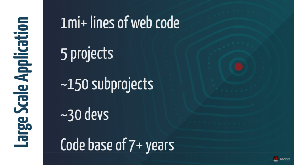 1mi+ lines of web code 5 projects ~150 subproje...