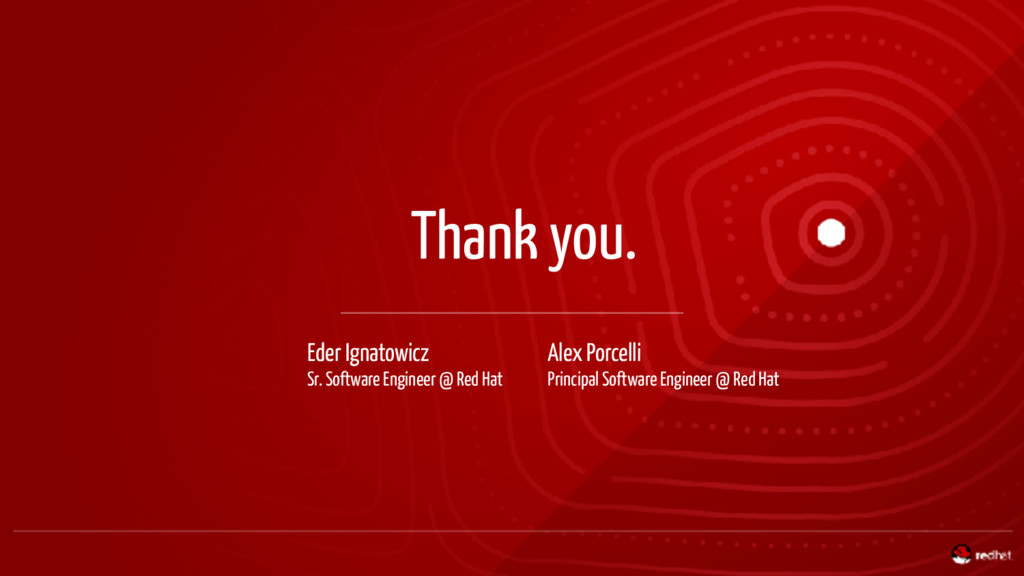 Thank you. Eder Ignatowicz Sr. Software Enginee...
