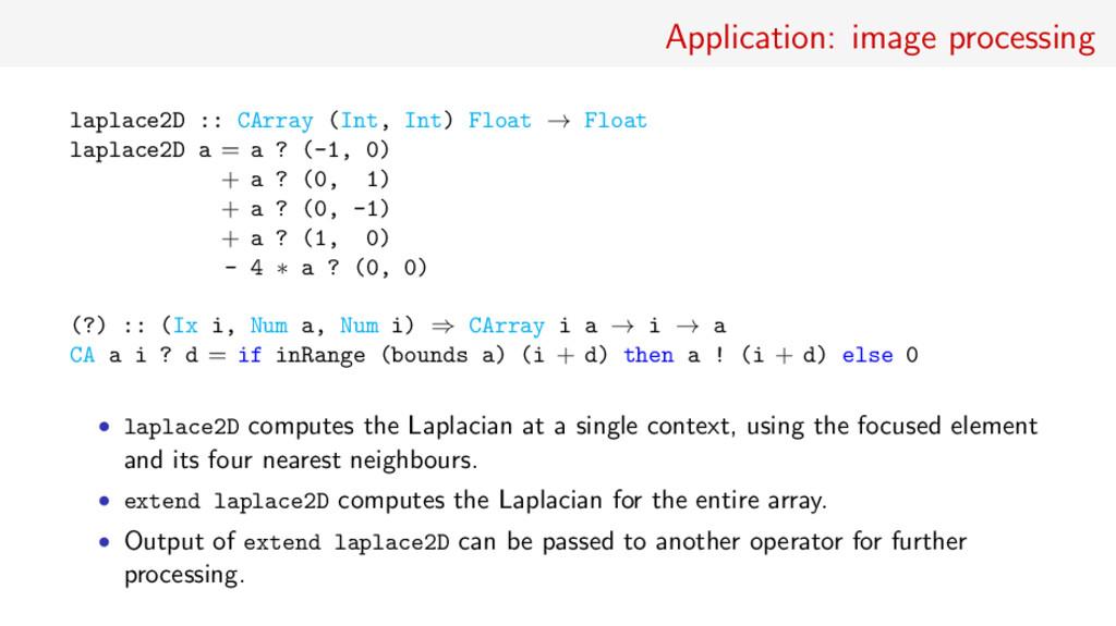 Application: image processing laplace2D :: CArr...
