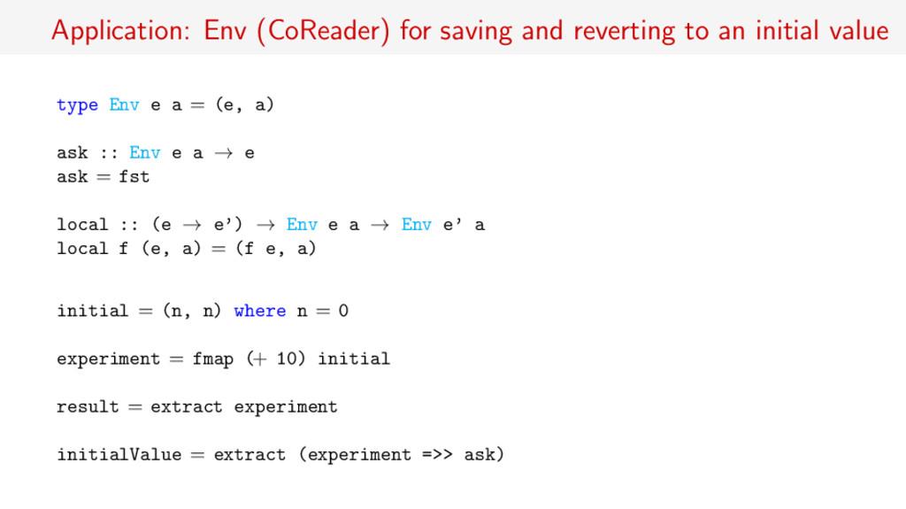 Application: Env (CoReader) for saving and reve...