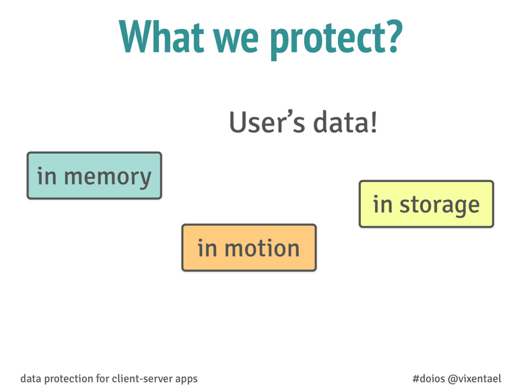 What we protect? User's data! data protection f...