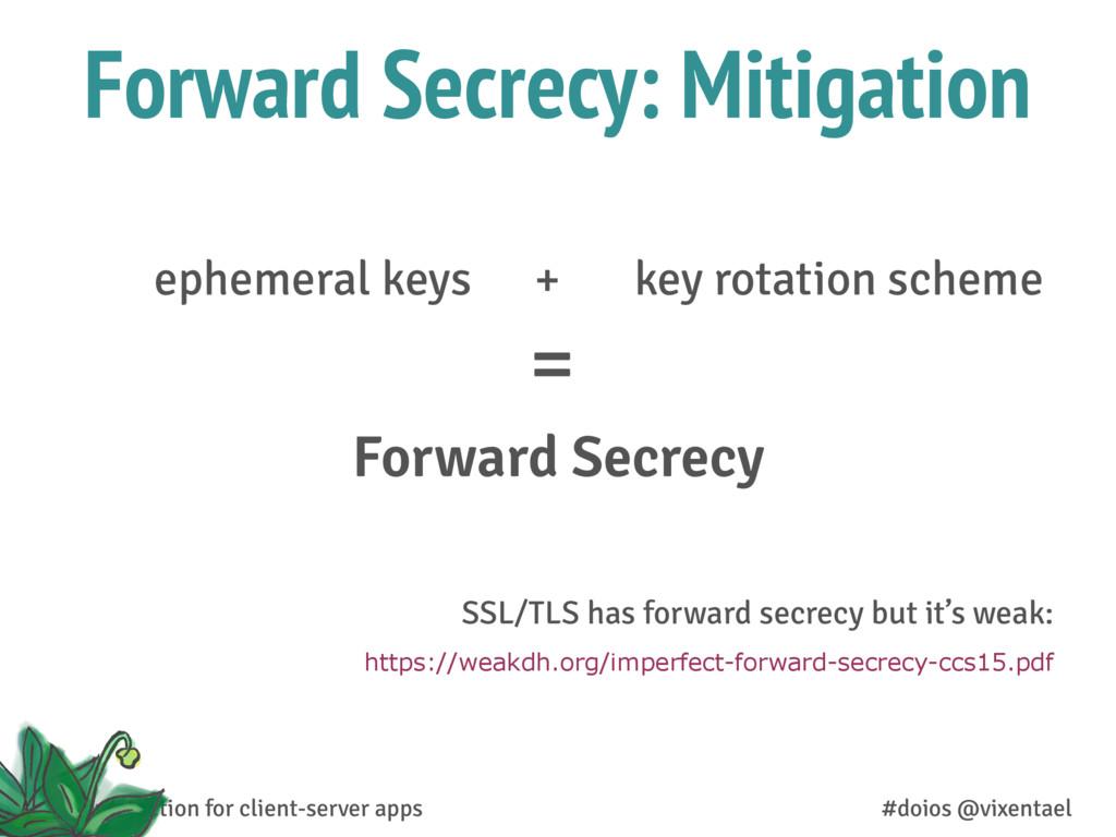 Forward Secrecy: Mitigation Forward Secrecy eph...