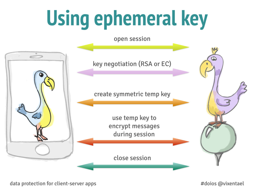 Using ephemeral key data protection for client-...