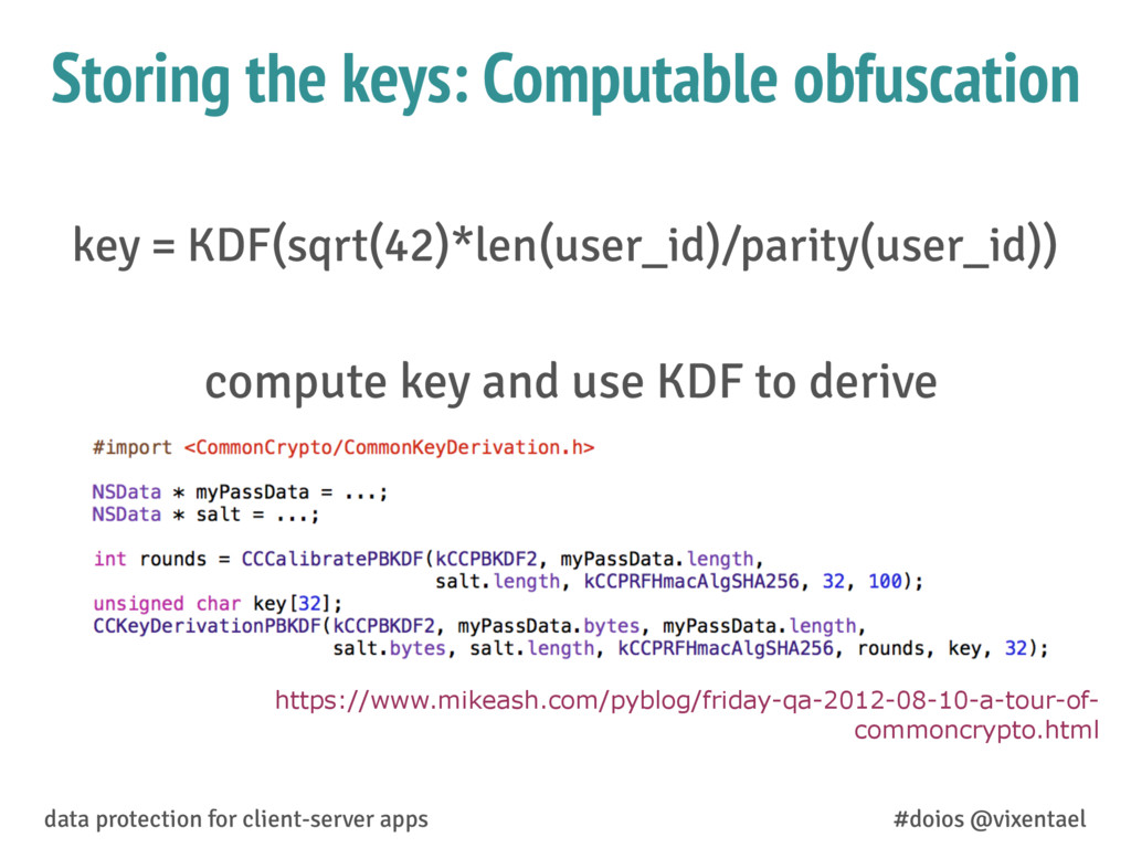 compute key and use KDF to derive data protecti...