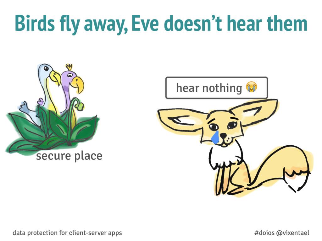 Birds fly away, Eve doesn't hear them data prot...