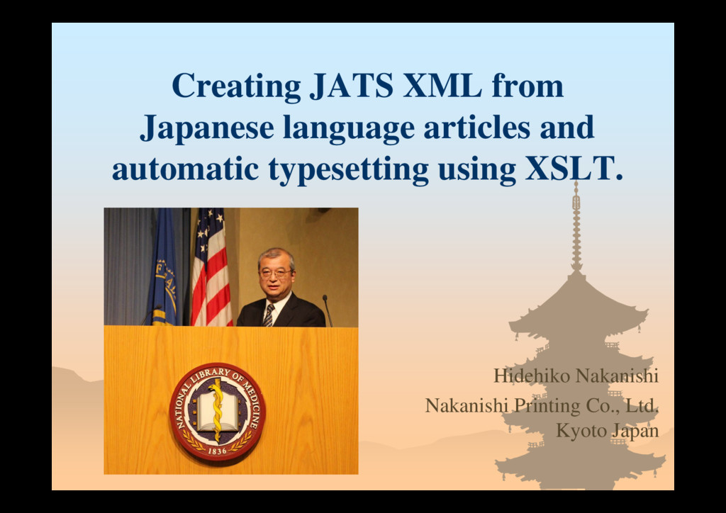 Creating JATS XML from Japanese language articl...