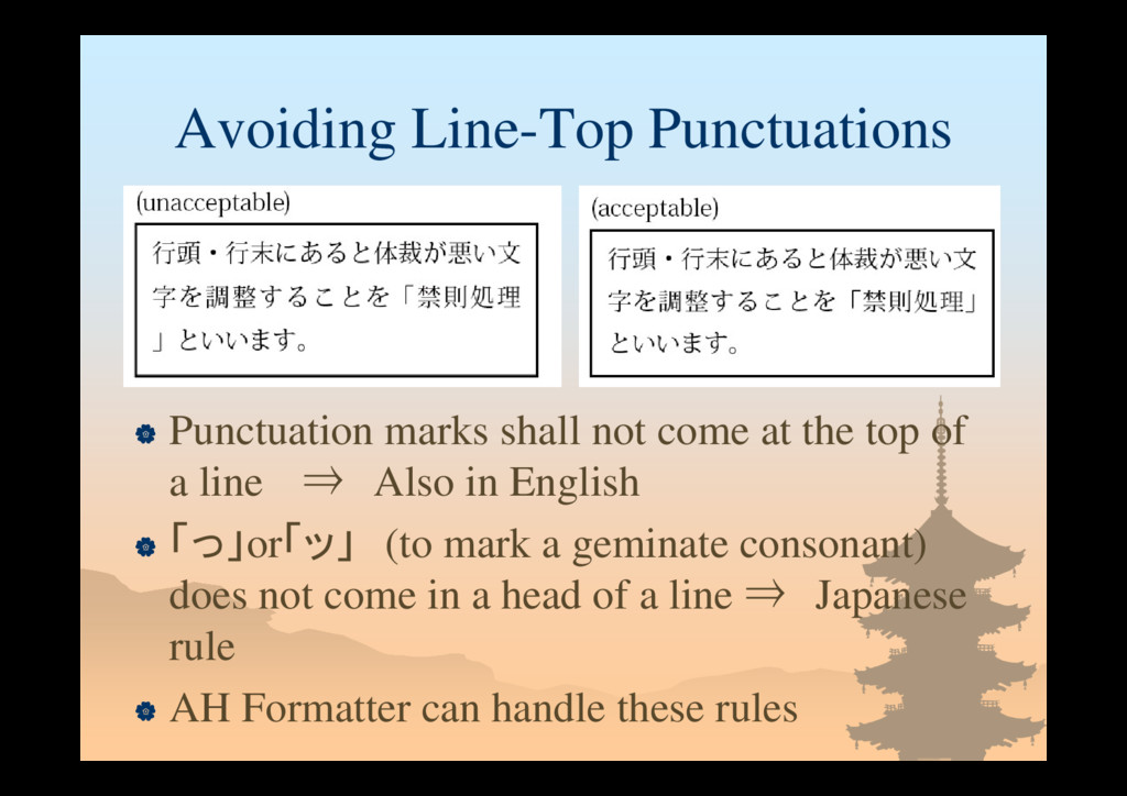 Avoiding Line-Top Punctuations  Punctuation ma...