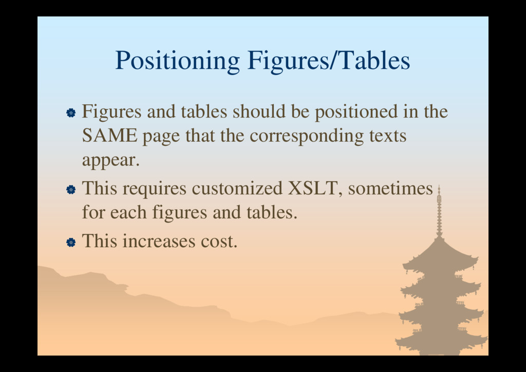 Positioning Figures/Tables  Figures and tables...
