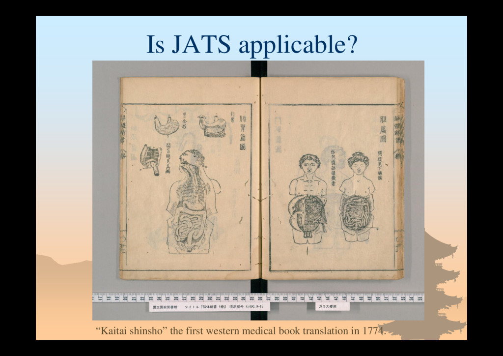 "Is JATS applicable? ""Kaitai shinsho"" the first ..."
