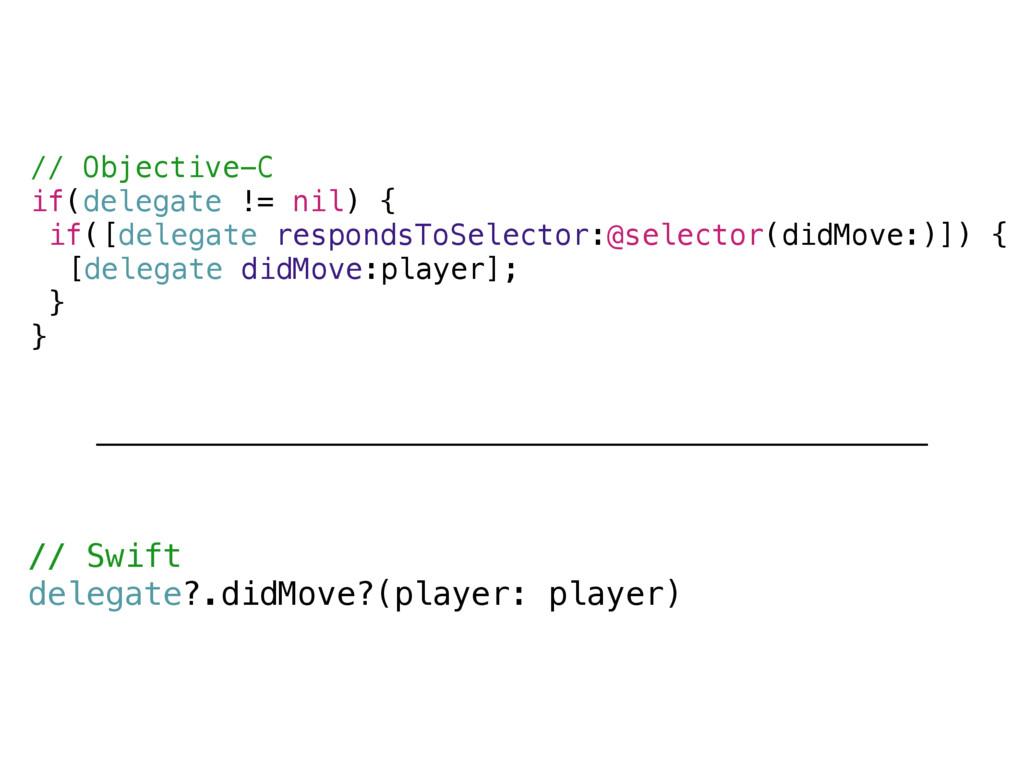 // Objective-C if(delegate != nil) { if([delega...