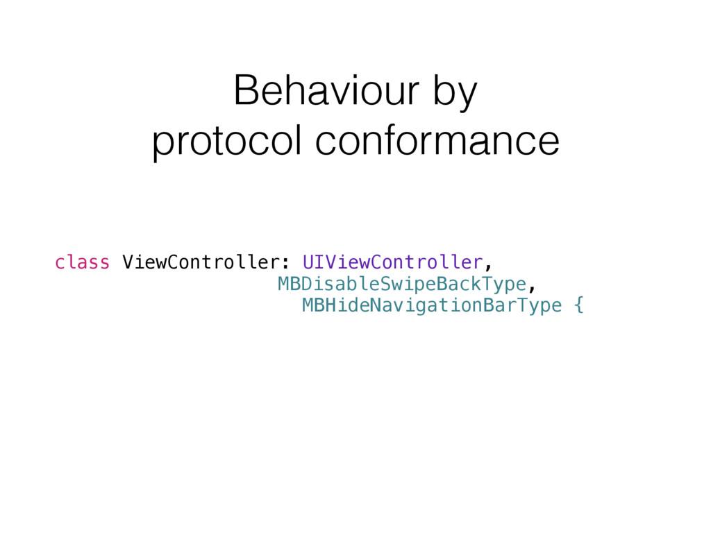 Behaviour by protocol conformance class ViewCon...