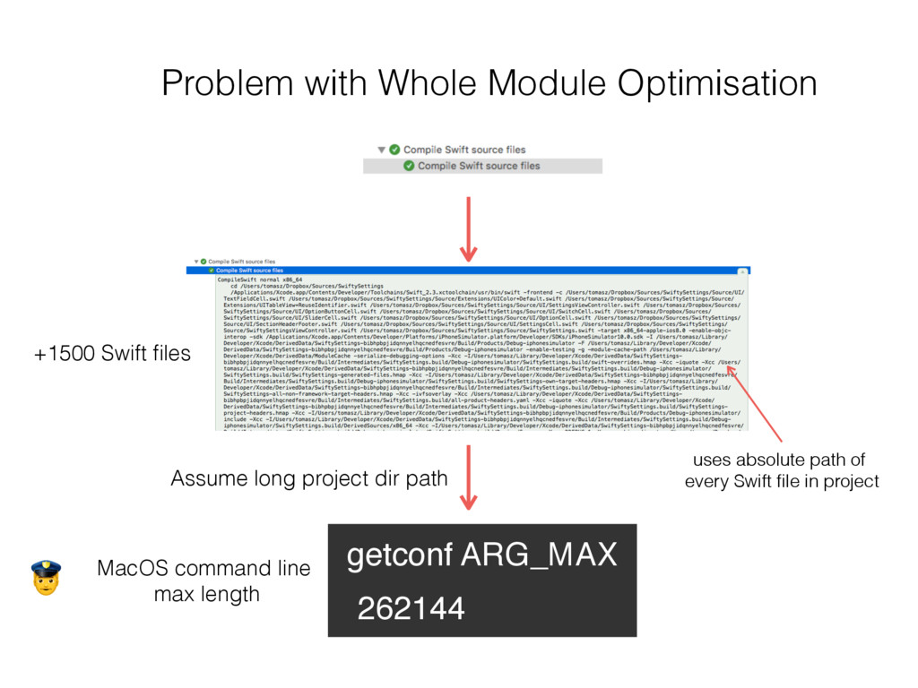 Problem with Whole Module Optimisation getconf ...