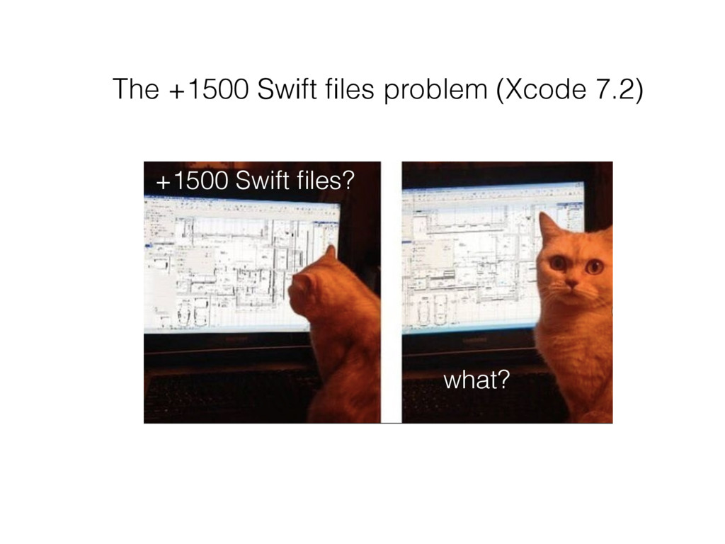 The +1500 Swift files problem (Xcode 7.2) +1500 ...
