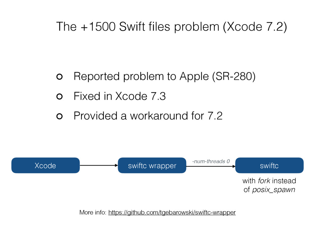 Reported problem to Apple (SR-280) Fixed in Xco...