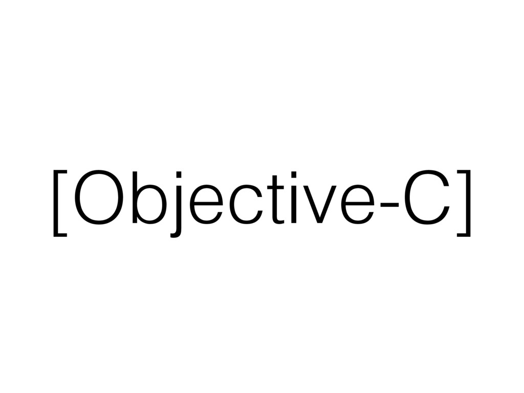 [Objective-C]