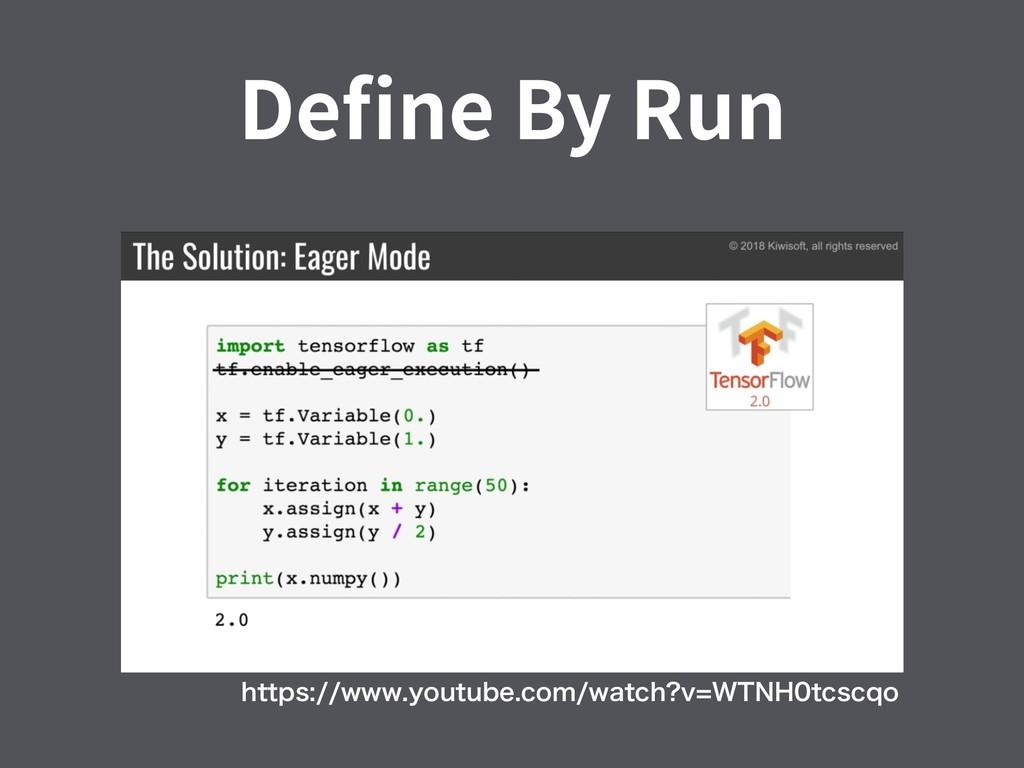 Define By Run IUUQTXXXZPVUVCFDPNXBUDI W85...
