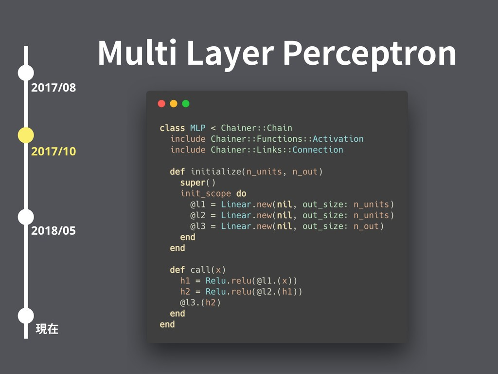Multi Layer Perceptron 2017/08 2017/10 2018/05 ...