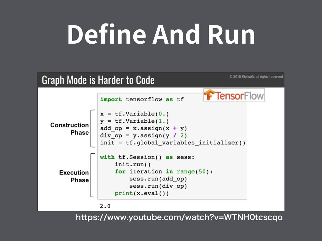 Define And Run IUUQTXXXZPVUVCFDPNXBUDI W8...