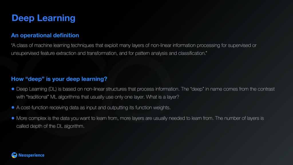 """Deep Learning How """"deep"""" is your deep learning?..."""
