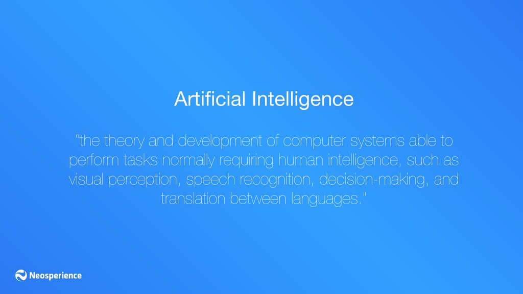 """Artificial Intelligence  """"the theory and develop..."""