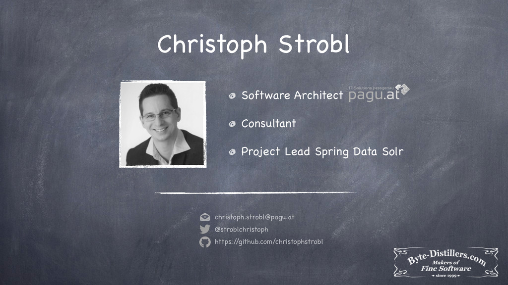 Christoph Strobl Software Architect Consultant ...