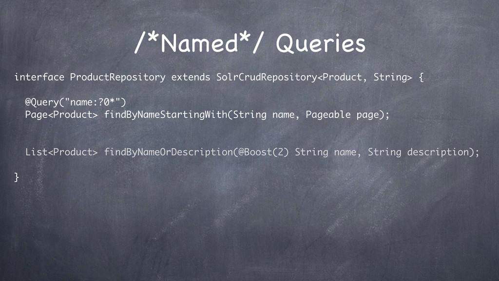/*Named*/ Queries interface ProductRepository e...