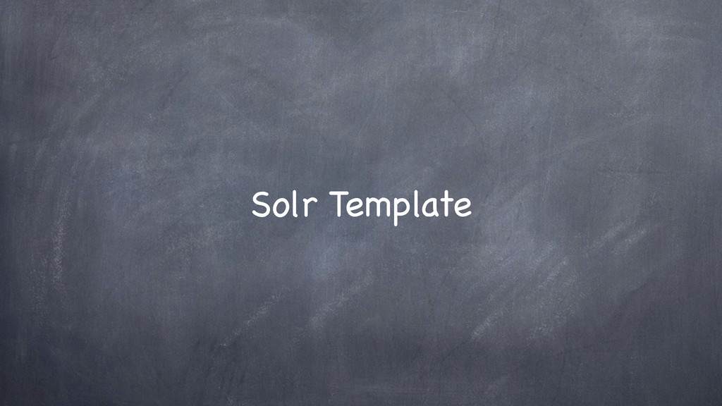Solr Template