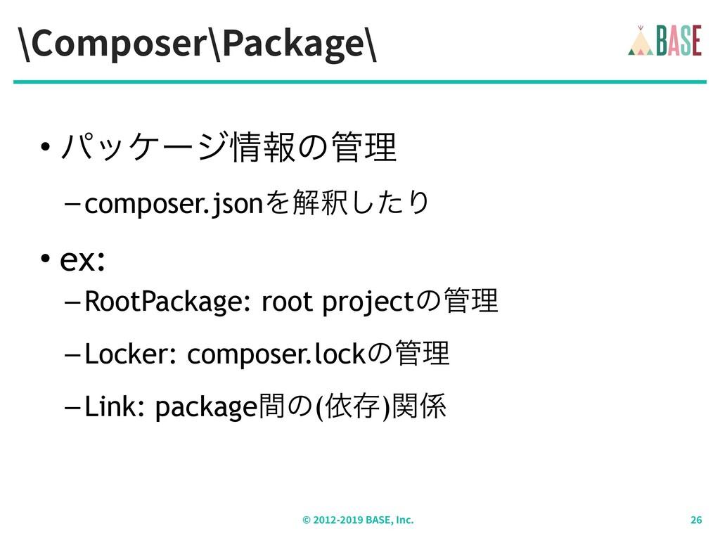 \Composer\Package\ © - BASE, Inc. • ύοέʔδใͷཧ ...