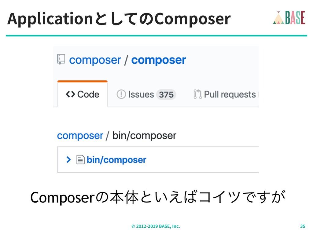 ApplicationとしてのComposer © - BASE, Inc. Composer...