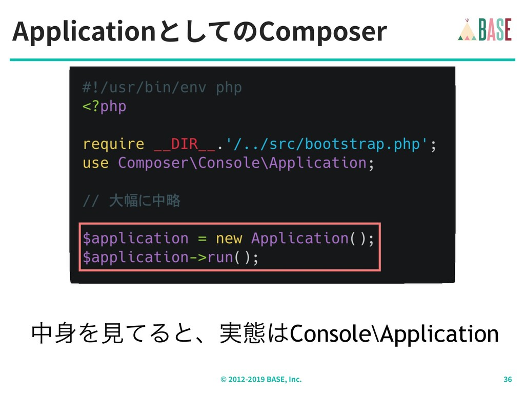 ApplicationとしてのComposer © - BASE, Inc. தΛݟͯΔͱɺ...