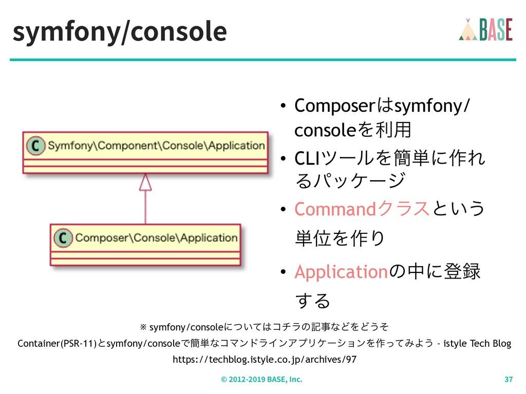 symfony/console © - BASE, Inc. • Composersymfo...