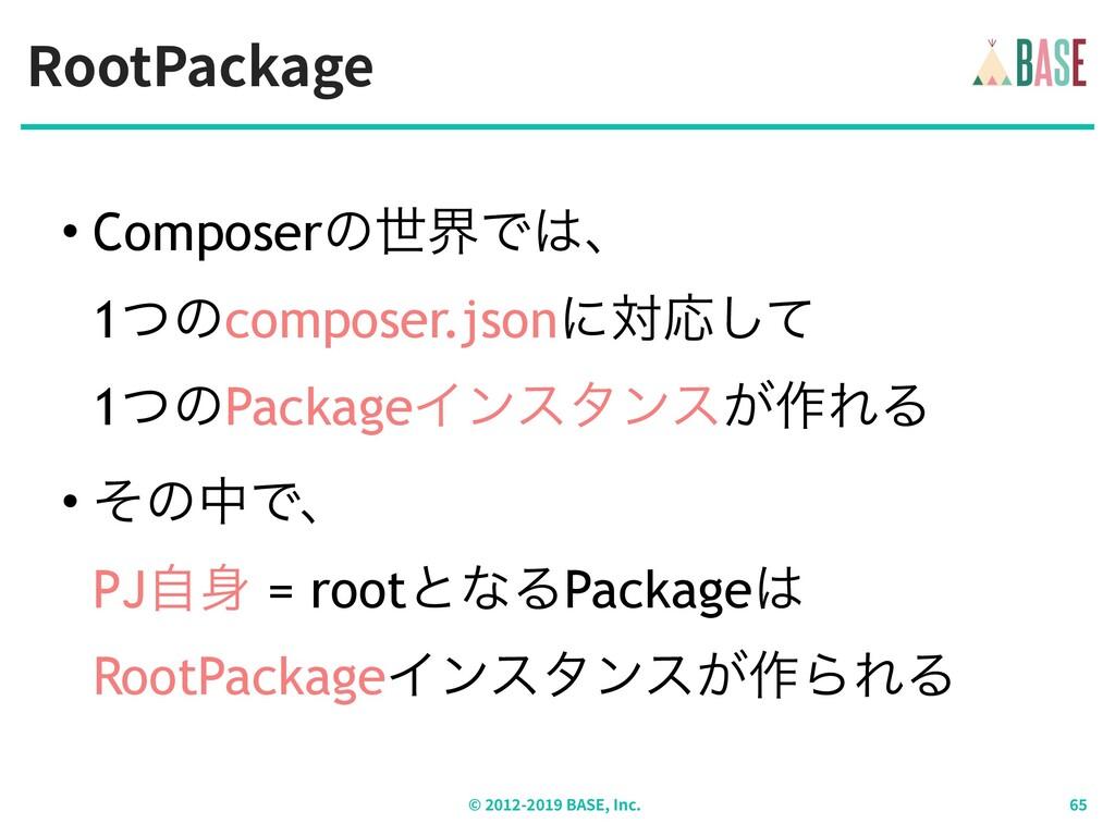 RootPackage © - BASE, Inc. • ComposerͷੈքͰɺ 1ͭ...