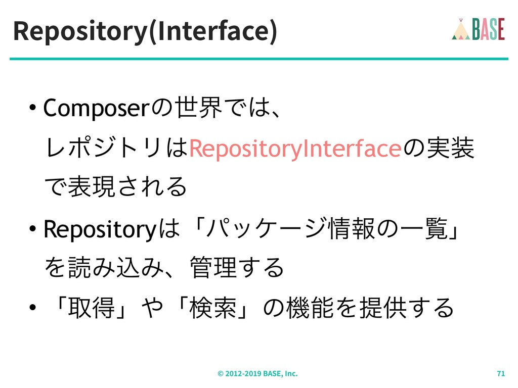 Repository(Interface) © - BASE, Inc. • Composer...