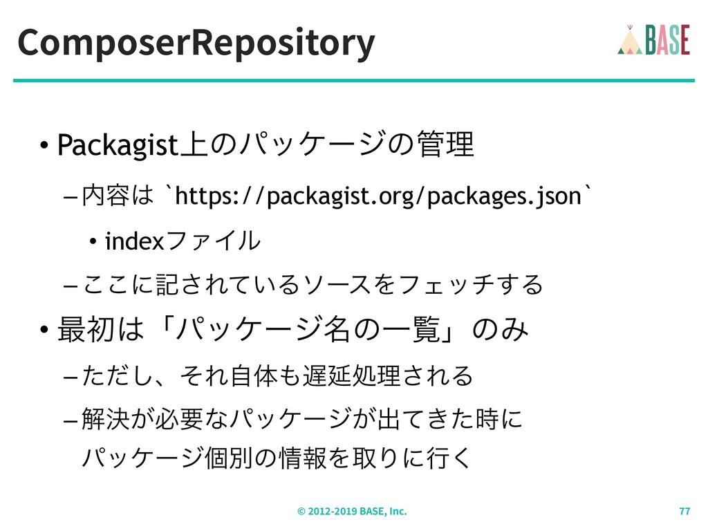 ComposerRepository © - BASE, Inc. • Packagist্ͷ...