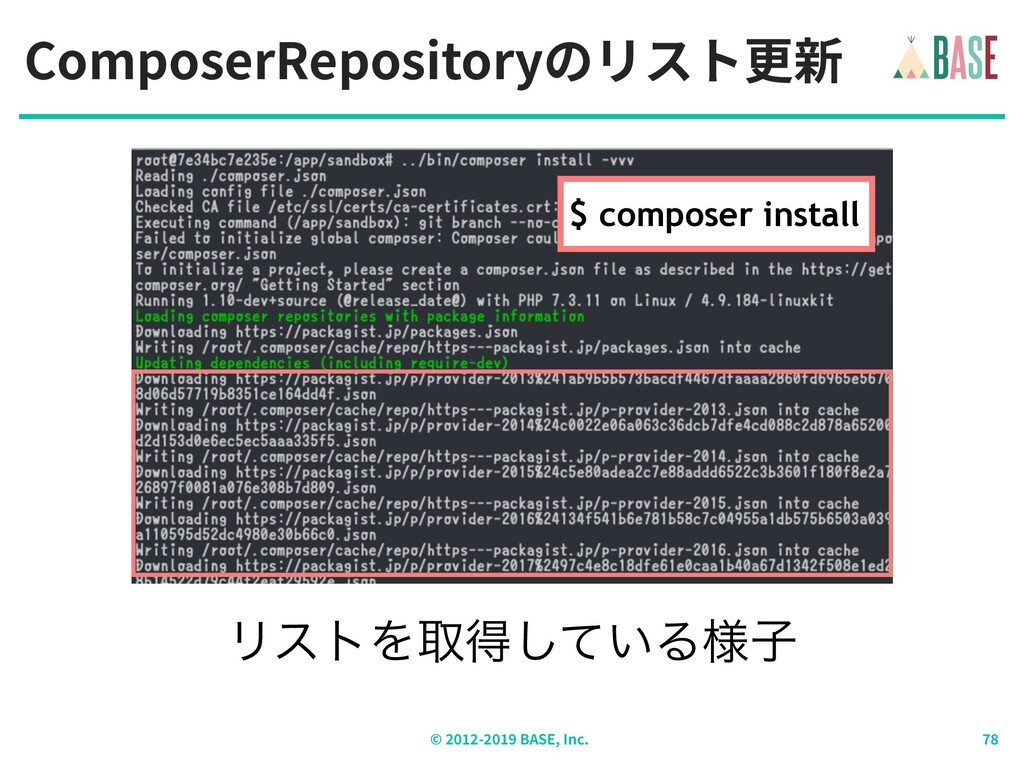 ComposerRepositoryのリスト更新 © - BASE, Inc. ϦετΛऔಘ͠...