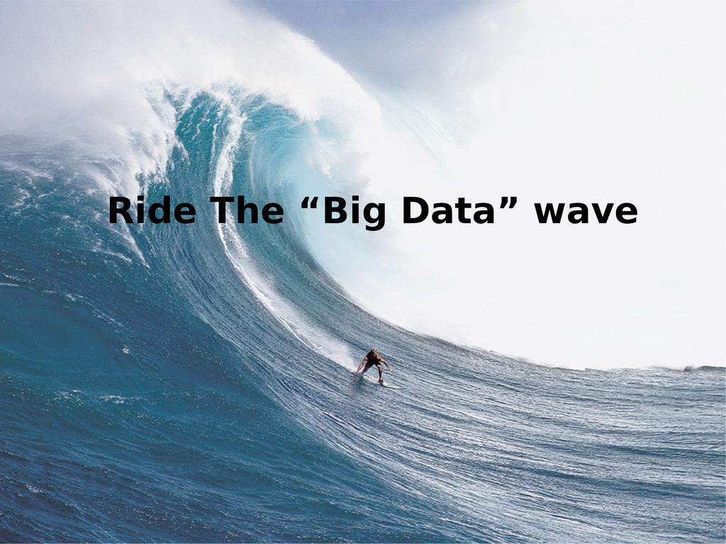 """Ride The """"Big Data"""" wave"""