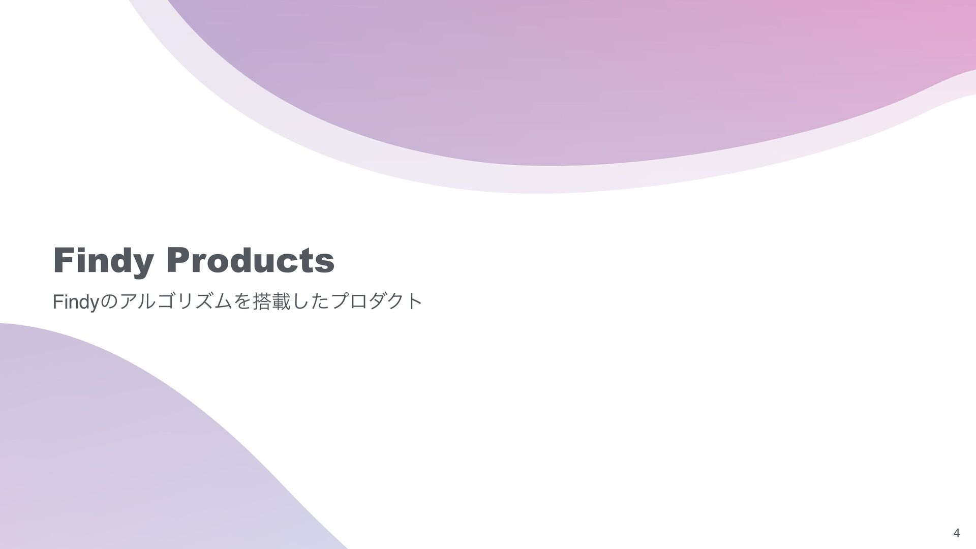 Findy Products Findyのアルゴリズムを搭載したプロダクト 4