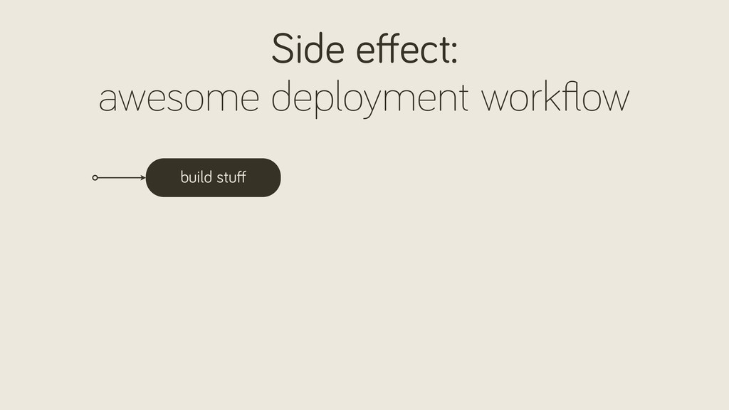 build stuff Side effect: awesome deployment workfl...