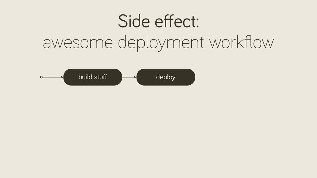build stuff deploy Side effect: awesome deploymen...