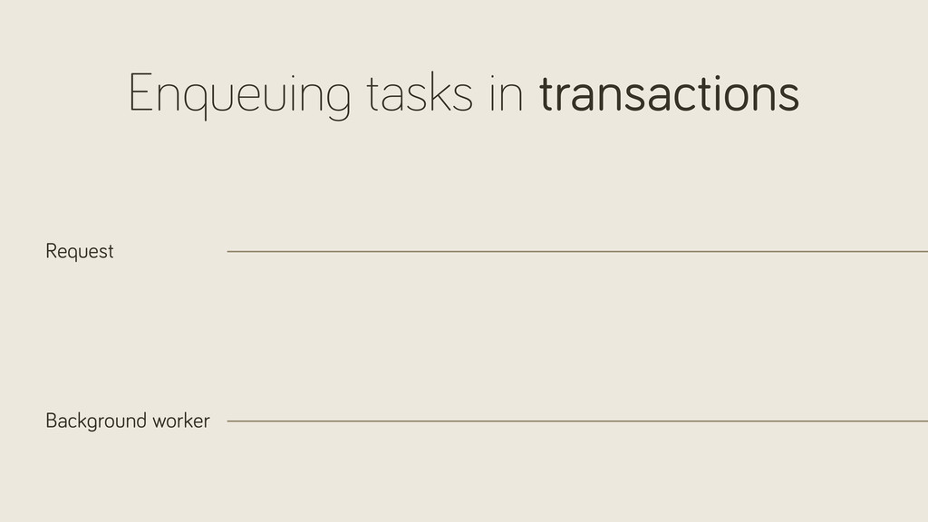 Enqueuin tasks in transactions Request Back rou...