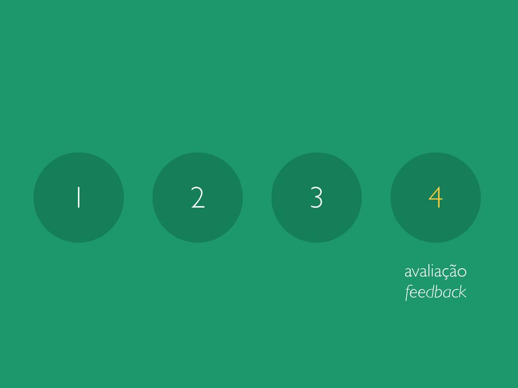 1 2 3 4 avaliação feedback
