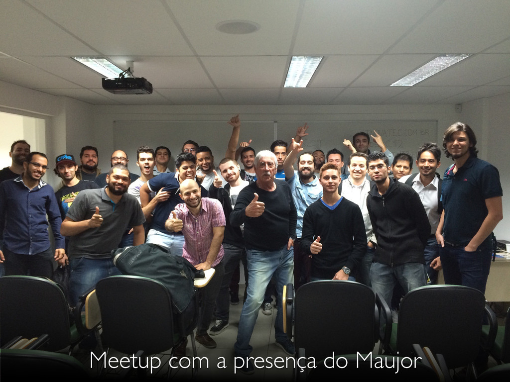Meetup com a presença do Maujor