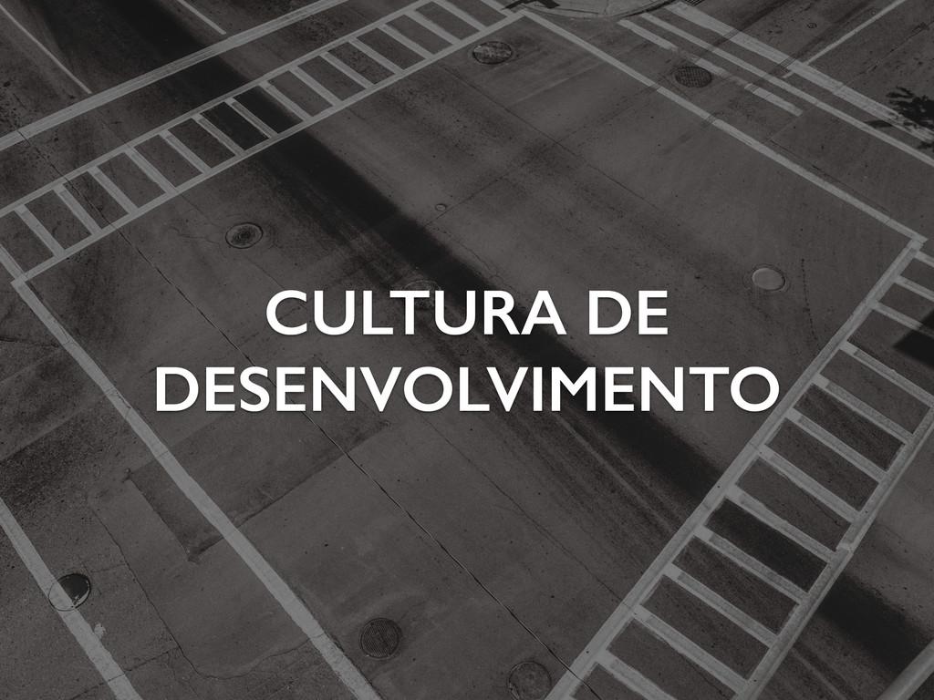 CULTURA DE DESENVOLVIMENTO