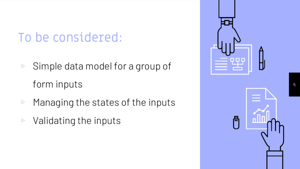 To be considered: ▹ Simple data model for a gro...