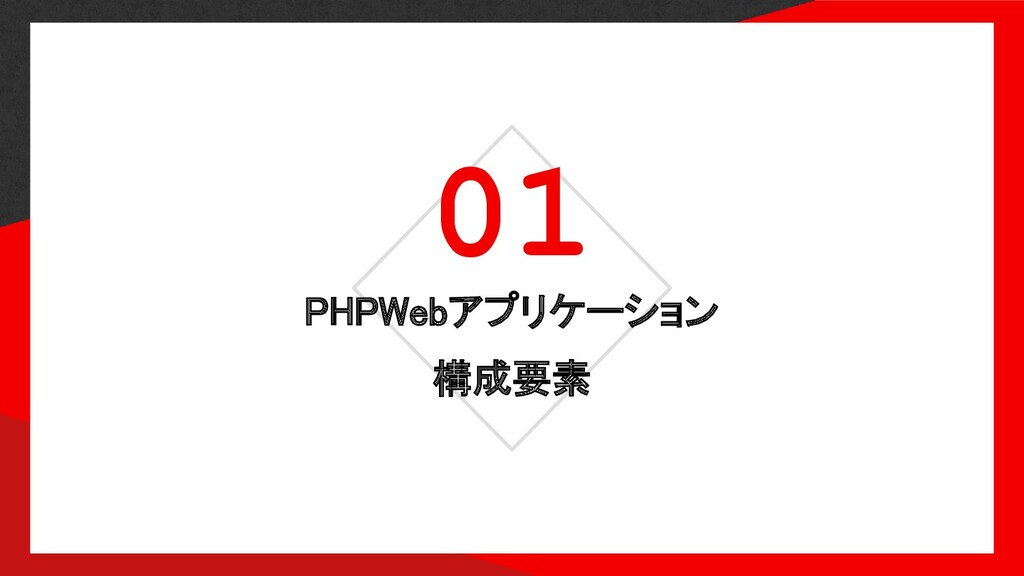 01 PHPWebアプリケーション 構成要素
