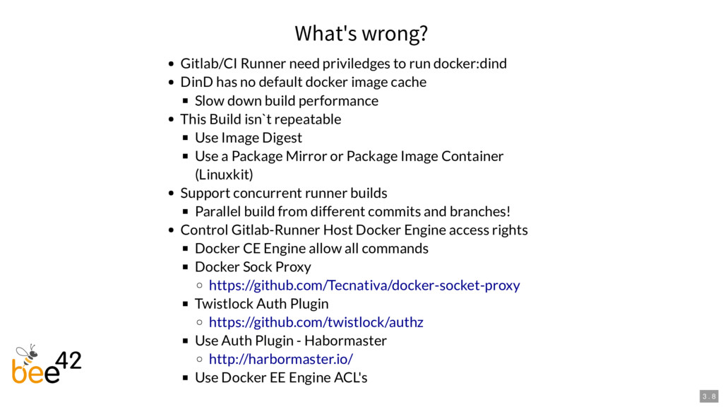 What's wrong? Gitlab/CI Runner need priviledges...