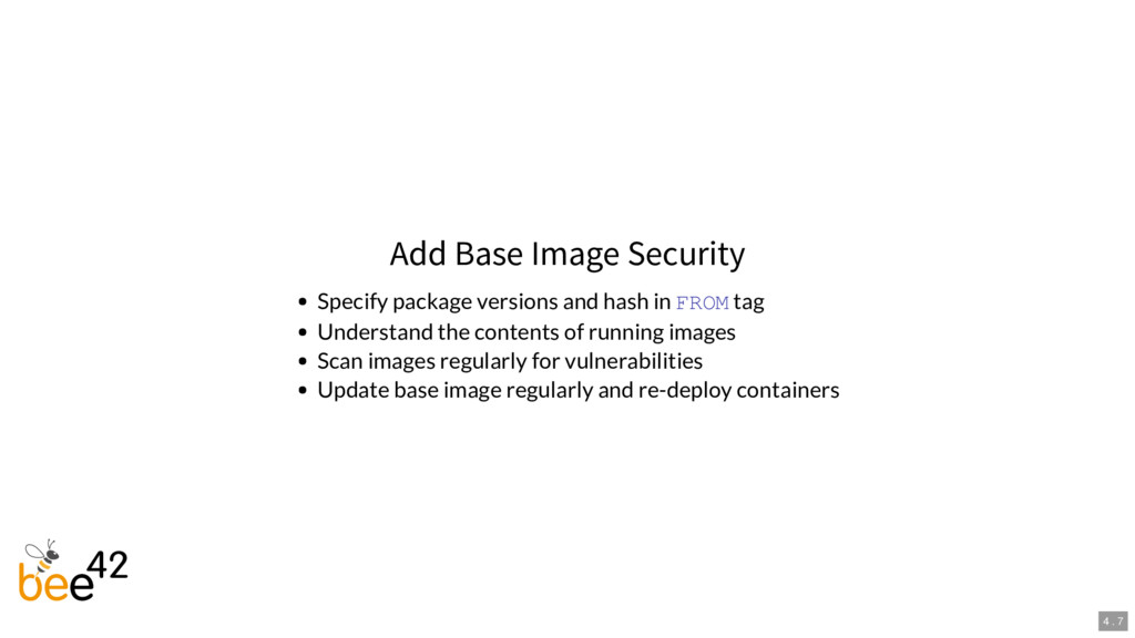 Add Base Image Security Specify package version...